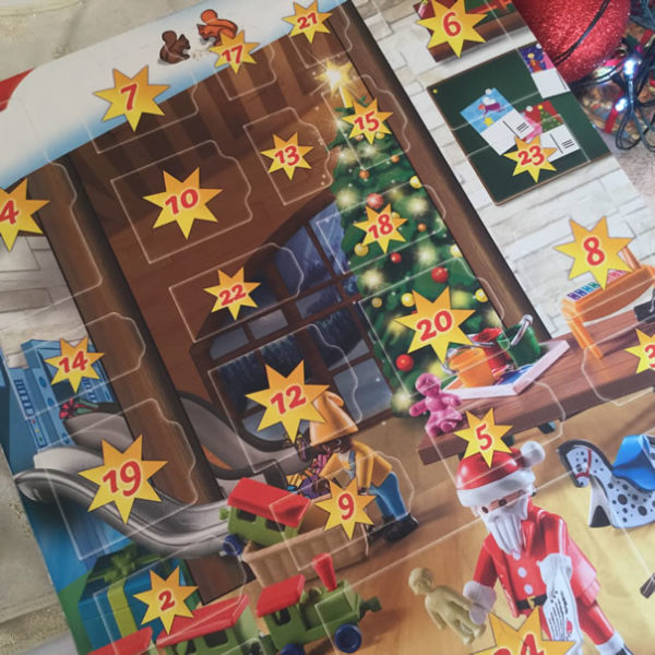 Image of front of Playmobil advent calendar