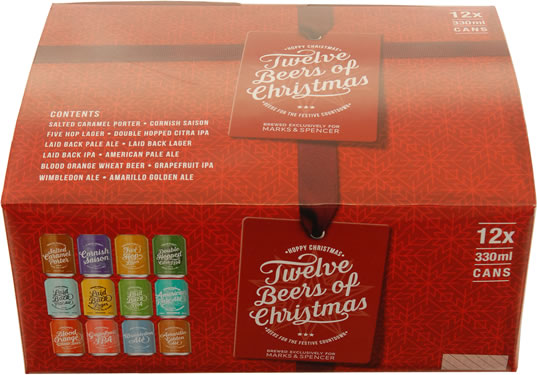 Image of Marks And Spencers twelve beers of Christmas