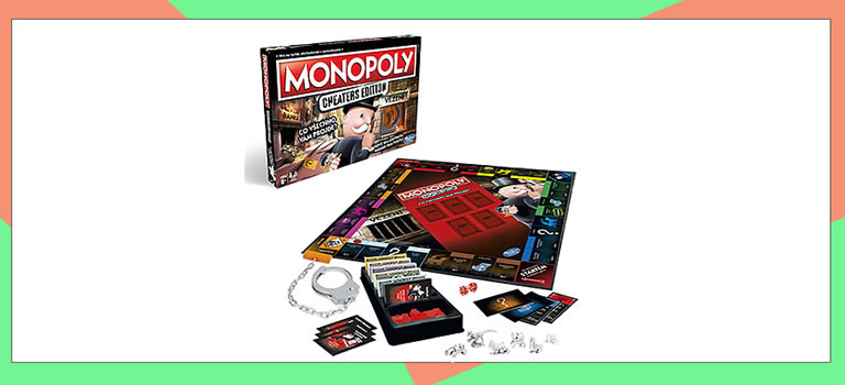 Image of monopoly cheaters edition box