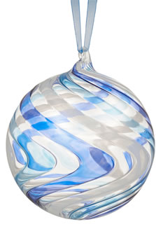 John Lewis And Psrtners Sapphire Ripple Bauble