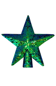 M&Co Ombre Sequin Star Tree Topper