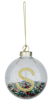 Marks and Spencers Glitter bauble