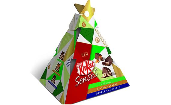 Nestlé KitKat Senses Mini Xmas Tree Gift 50g - Christmas 2018