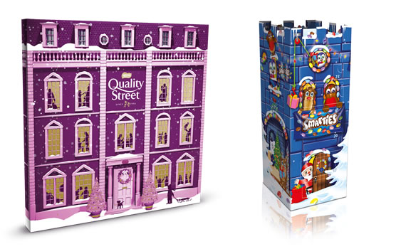 Nestle Quality Street and Smarties Advent Calendars - Christmas 2018