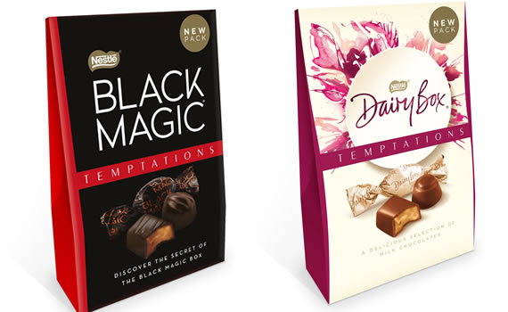 Nestlé Black Magic Temptations and Dairybox Temptations - Christmas 2018
