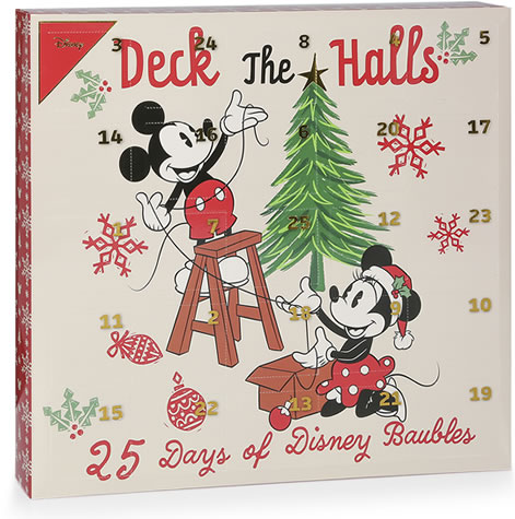 Primark Deck The Halls Disney Advent Bauble Calendar