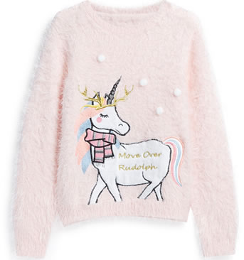 Primark Christmas Jumpers 2018 - Pink Fluffy Unicorn