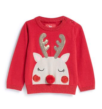 Primark Christmas Jumpers 2018 - Red Blushing Reindeer