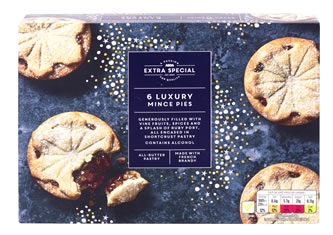 ASDA Extra Special 6 Luxury Mince Pies