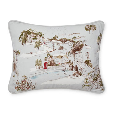 Laura Ashley- Winter Scene Embroidered Grey Cushion £35