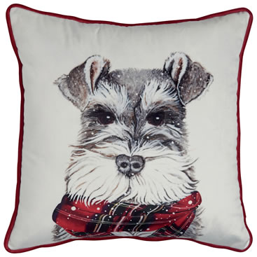 Marks & Spencer Christmas printed dog cushion, £12.00