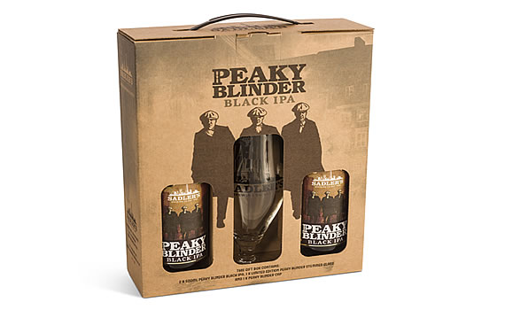 Debenhams Peaky Blinders IPA, Glass & Cap Gift Set £25