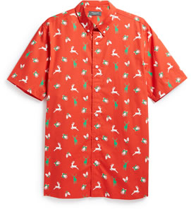 Christmas shirt: Traditional red