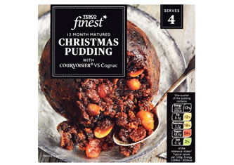 Tesco Finest 12 Month Matured Christmas Pudding with Courvoisier VS Cognac
