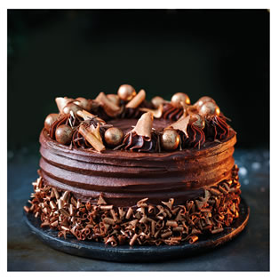 Tesco Finest Belgian Chocolate and Clementine Cake