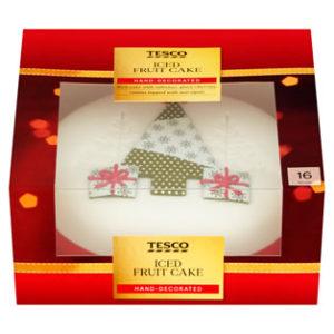 Tesco Iced Fruit Cake