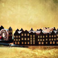 M&S are selling Santa's Rooftop Chocolate & Caramel Yule Log