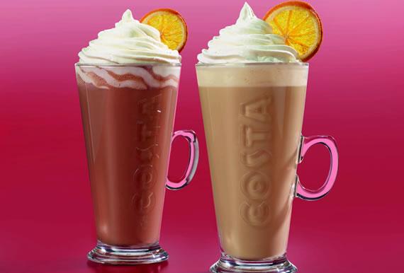 Costa Coffee Caramalised Orange Drinks