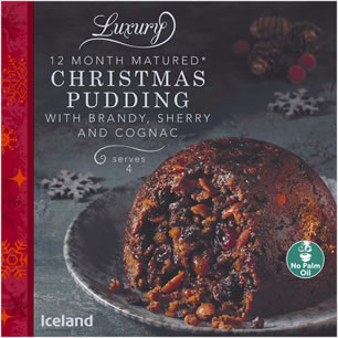 Iceland Luxury Christmas Pudding