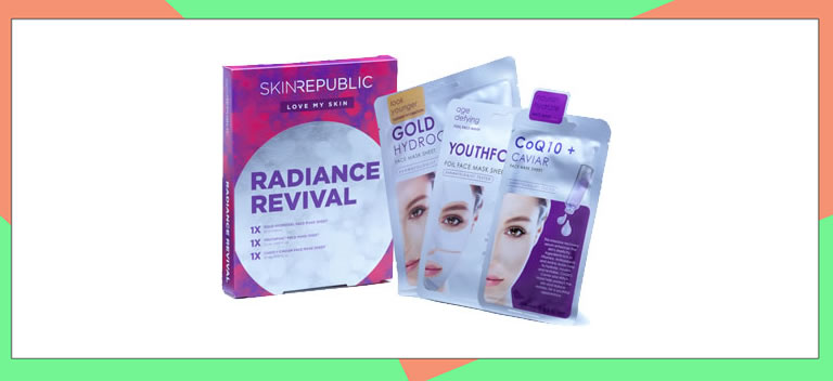 Image of Skin Republic Radiance Revival face masks