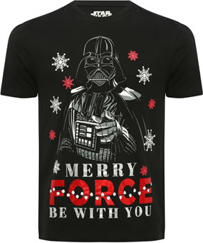 Mens Christmas t-shirt: M&Co may the force be with you