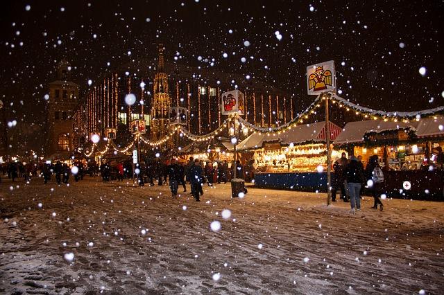 Christmas market scene