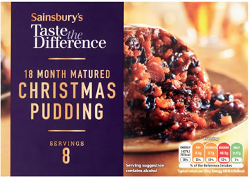 Sainbury's Taste The Difference 18 Month Matured Christmas Pudding