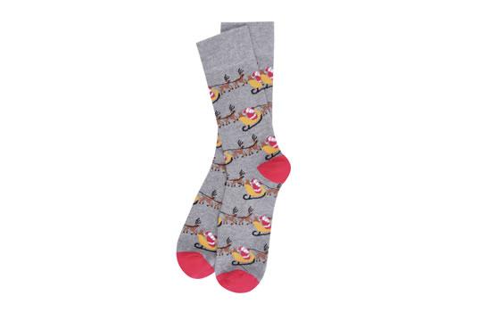 BURTON CHRISTMAS 18 Grey Reindeer Socks GBP 12.00