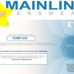 Mainline Menswear £100 voucher