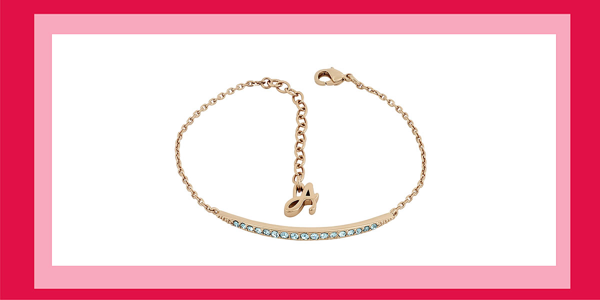 Adore Elegance Curved Bar Bracelet