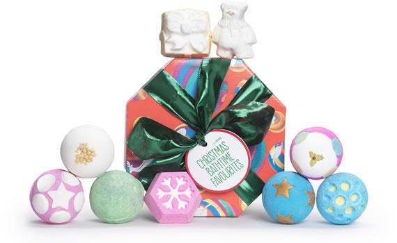 Christmas bathtime favourites by Lush