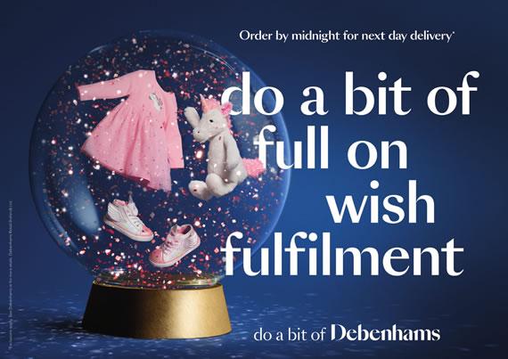 Debenhams 'do a bit of you know you did good'