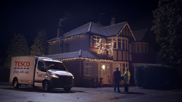 Image from 'Everyone's Welcome; Tesco Christmas advert 2018
