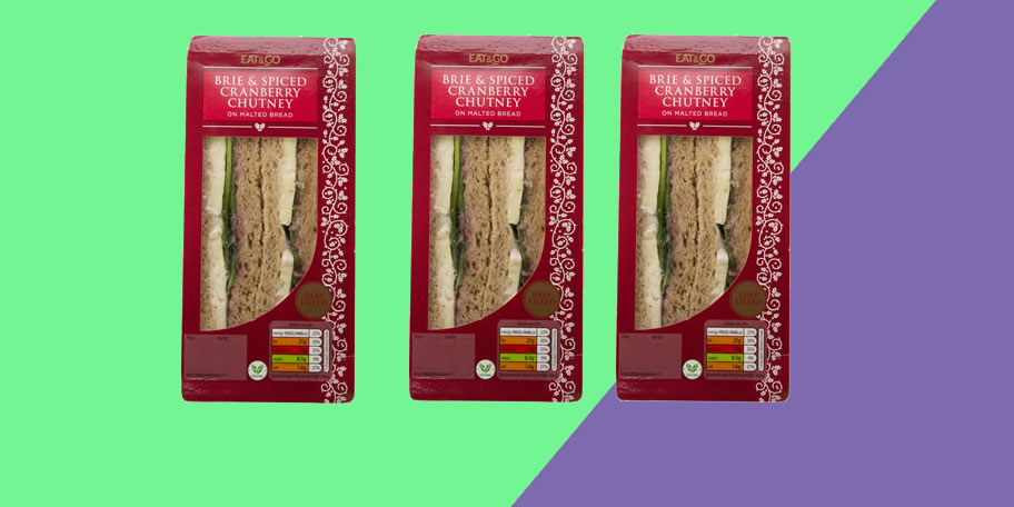 Image of Aldi Brie And Spicy Cranberry Christmas sandwich