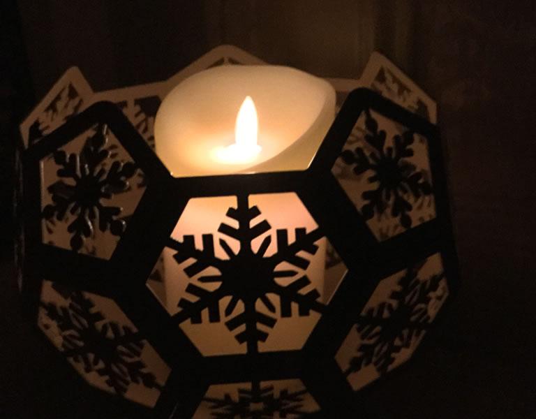 Image of Blazing Balls candle night