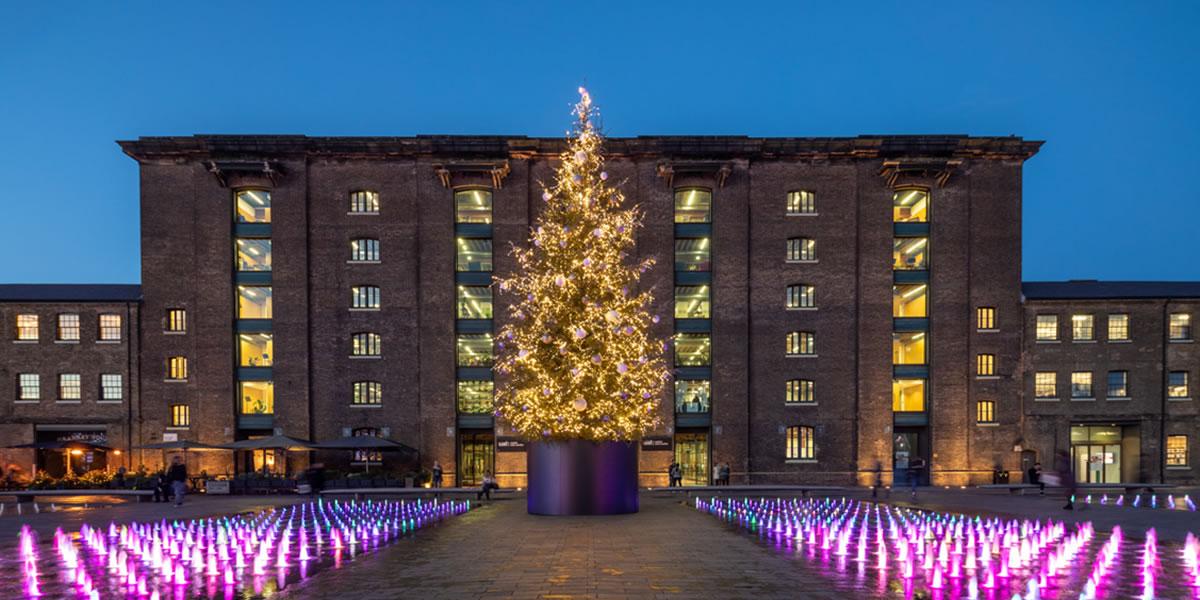 Christmas Tree, Granary Square, King's Cross