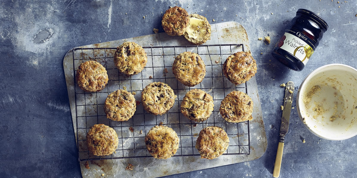 Image of Opies pickled walnut and stilton scones