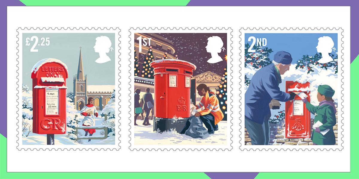 Image of Royal Mail Christmas stamps 2018