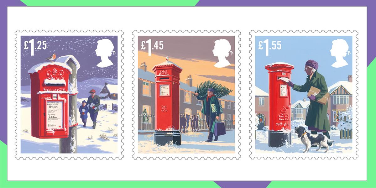 Image of Royal Mail Christmas stamps
