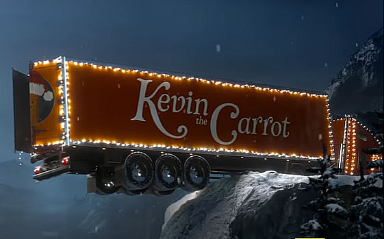 Kevin the Carrot orange truck