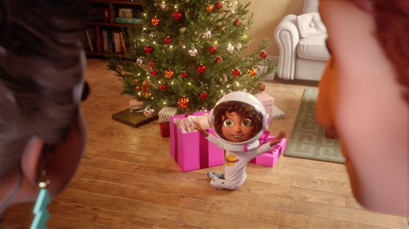 Very.co.uk Christmas ad 2018: Elsie'a Helmet
