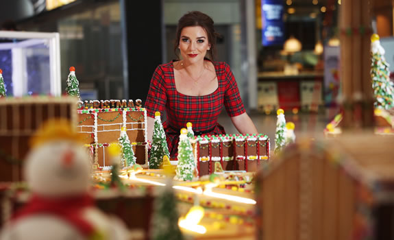Candice Brown Heathrow Aiport Gingerbread Creation