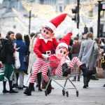 Two giant ELVES cause uproar in London