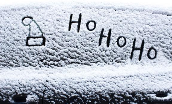 Santa hat in the snow