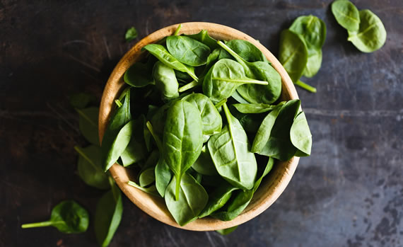 Spinach to get more greens in
