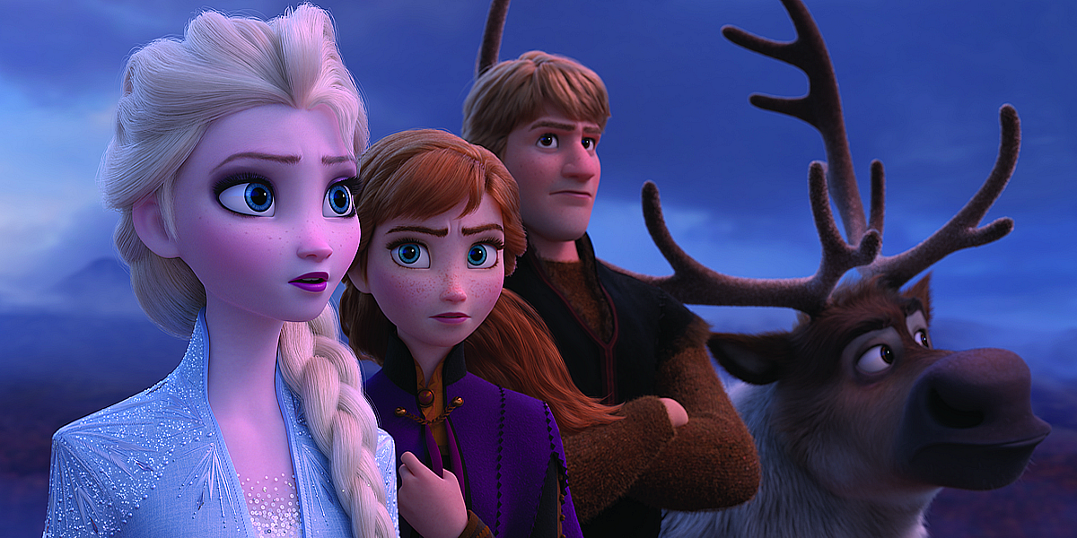 Disney Frozen 2: Elsa, Anna, Kristoff and Sven