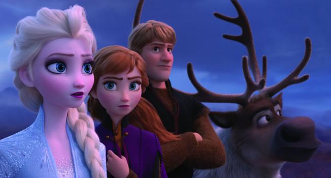 Disney Frozen 2: Elsa, Anna, Kristoff and Sven