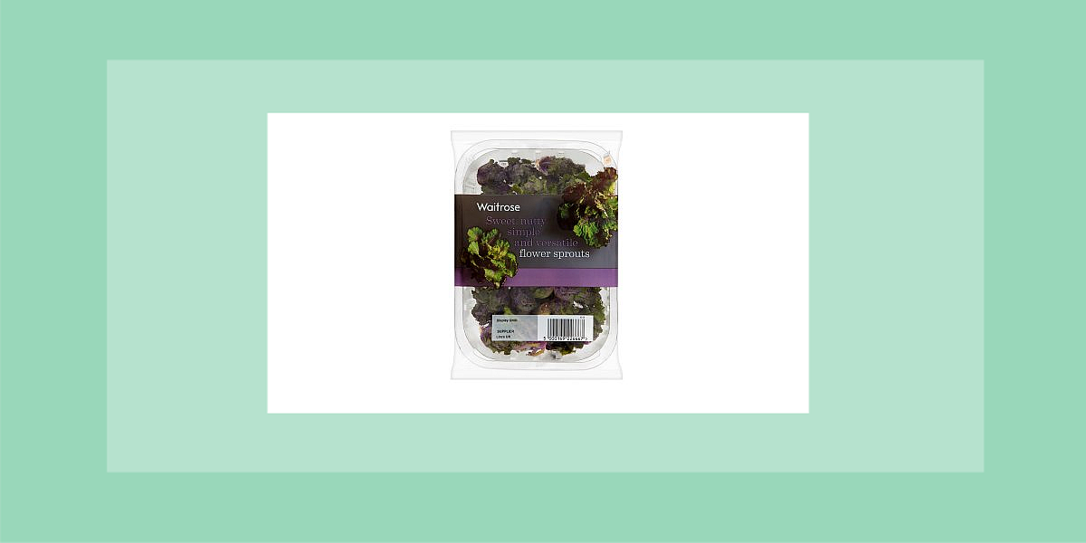 Waitrose trimmed baby sprouts cost £1.10/100g and Kalettes £1.50/160g.