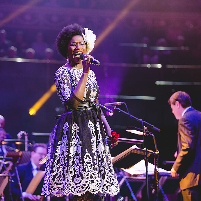 Vanessa Haynes at Guy Barker's Big Band Christmas (credit Andy Paradise)