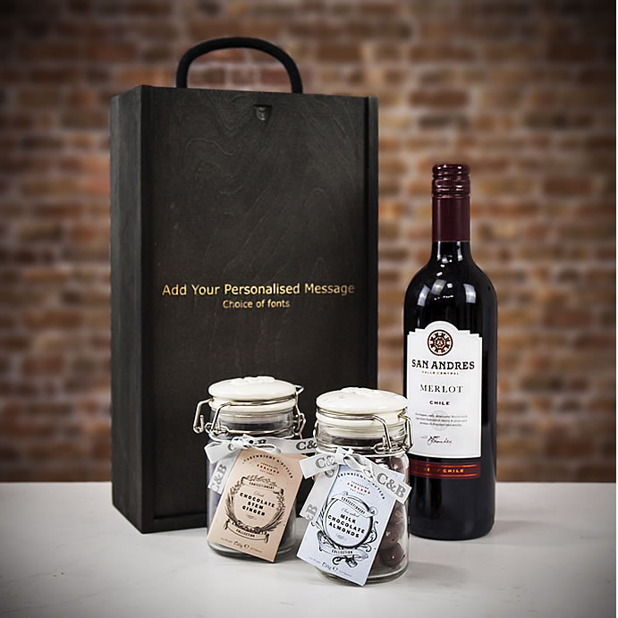 Farrar & Tanner - Merlot Red Wine & Chocolates gift set